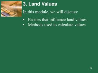 3. Land Values