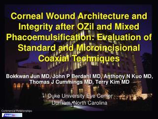 Bokkwan Jun MD, John P Berdahl MD, Anthony N Kuo MD, Thomas J Cummings MD, Terry Kim MD