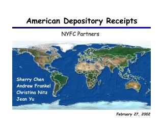 American Depository Receipts
