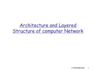 Architecture and Layered Structure of computer Network