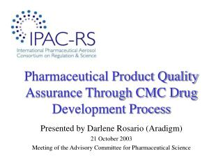 Pharmaceutical Product Quality Assurance Through CMC Drug Development Process