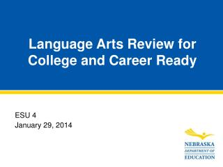 Language Arts Review for College and Career Ready