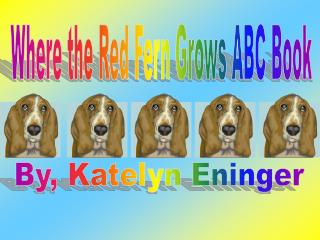 Where the Red Fern Grows ABC Book