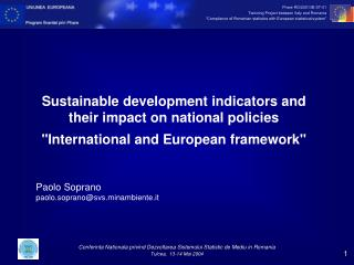 Sustainable development indicators and their impact on national policies