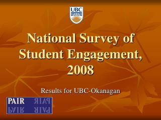 National Survey of Student Engagement, 2008