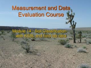 Measurement and Data Evaluation Course