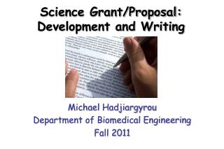 Science Grant/Proposal:  Development and Writing