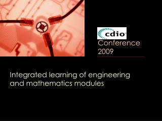 Integrated learning of engineering and mathematics modules