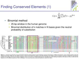 Finding Conserved Elements (1)