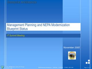 Management Planning and NEPA Modernization Blueprint Status