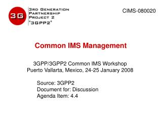 Common IMS Management