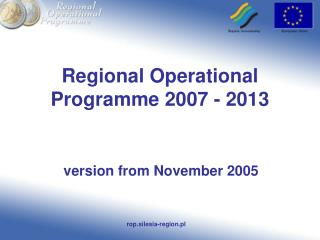 Regional Operational Programme 2007 - 2013