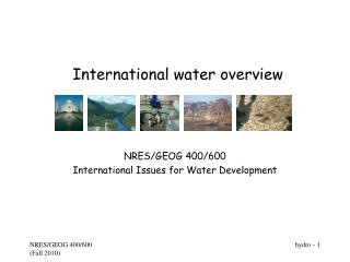 International water overview