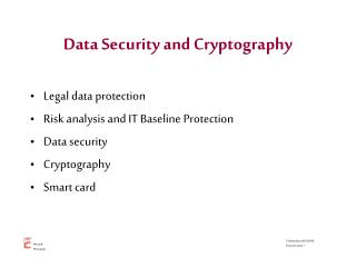 Data Security and Cryptography
