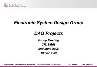 Electronic System Design Group DAQ Projects