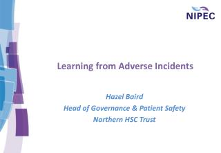 Learning from Adverse Incidents