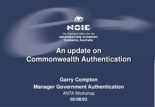 An update on  Commonwealth Authentication
