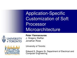 Application-Specific Customization of Soft Processor Microarchitecture