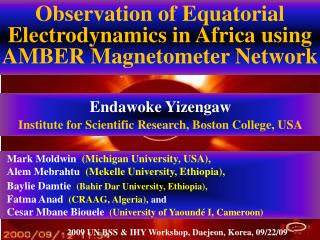 Observation of Equatorial Electrodynamics in Africa using AMBER Magnetometer Network