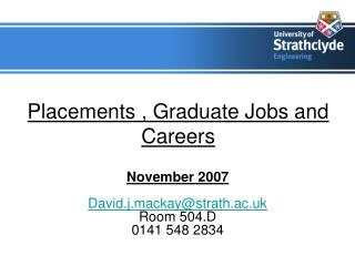 Placements , Graduate Jobs and Careers