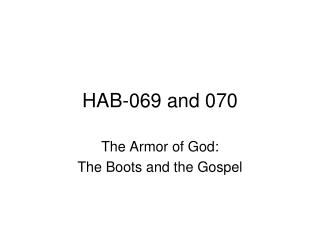 HAB-069 and 070