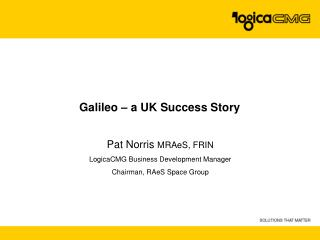 Galileo – a UK Success Story