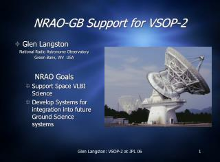 NRAO-GB Support for VSOP-2