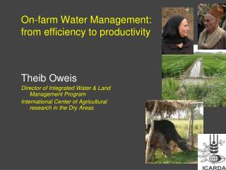 On-farm Water Management:  from efficiency to productivity