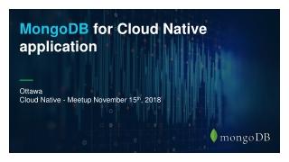 Ottawa Cloud Native - Meetup November 15 th , 2018