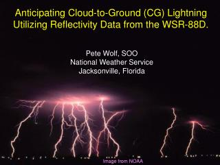 Anticipating Cloud-to-Ground (CG) Lightning Utilizing Reflectivity Data from the WSR-88D.