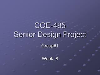 COE-485 Senior Design Project