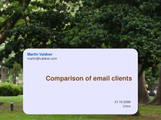 Comparison of email clients