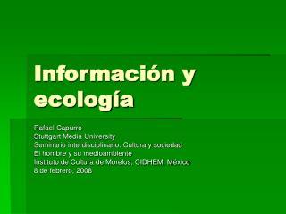 Información y ecología