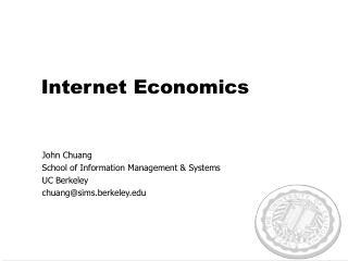 Internet Economics