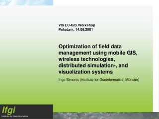 7th EC-GIS Workshop Potsdam, 14.06.2001