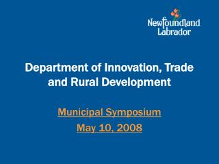 Department of Innovation, Trade and Rural Development
