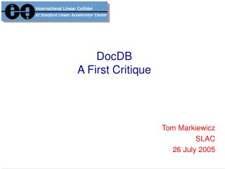 DocDB A First Critique