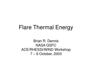 Flare Thermal Energy