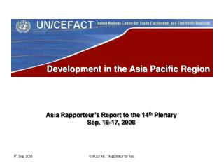 Development in the Asia Pacific Region