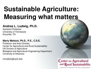Sustainable Agriculture: Measuring what matters