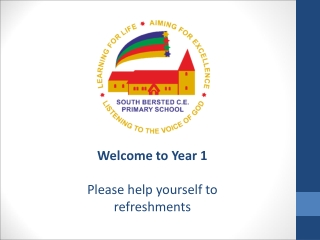 Welcome to Year 1 Please help yourself to refreshments