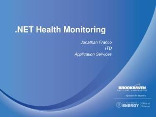 .NET Health Monitoring