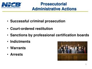 Prosecutorial  Administrative Actions