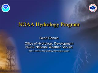 NOAA Hydrology Program
