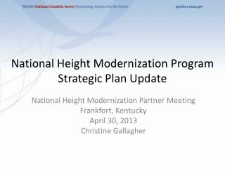 National Height Modernization Program Strategic Plan Update