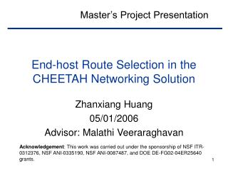 End-host Route Selection in the CHEETAH Networking Solution