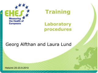 Training Laboratory procedures