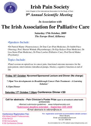 Irish Pain Society (Irish Chapter of the International Association for the Study of Pain)