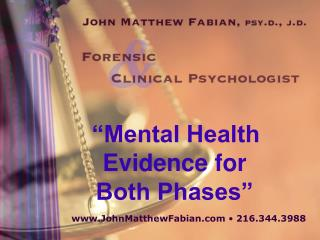 """Mental Health Evidence for  Both Phases"""