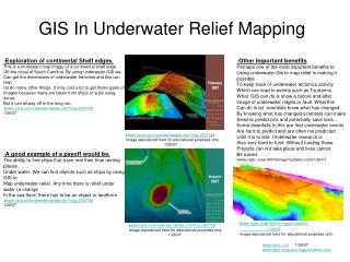 GIS In Underwater Relief Mapping